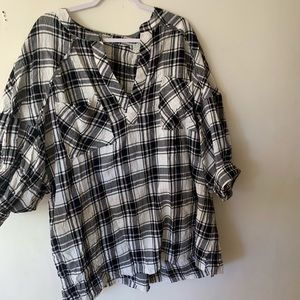 Free people oversized flannel tunic